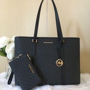 Michael Kors sady Laptop shoulder tote bag&wallet